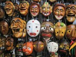 traditional Korean masks from street vendors in Seoul, Korea