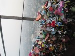 "Lockets of love from Namsan Tower (couples ""seal"" their love by placing locks on the fences of the tallest tower in Korea, and tossing the key over the edge)"