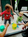The little ones approve.  All the world should be a sandbox.