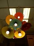 Hip Cooks, colander chandelier, DIY idea