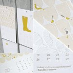Letterpress Calendar from Design Crush, Ink & Wit